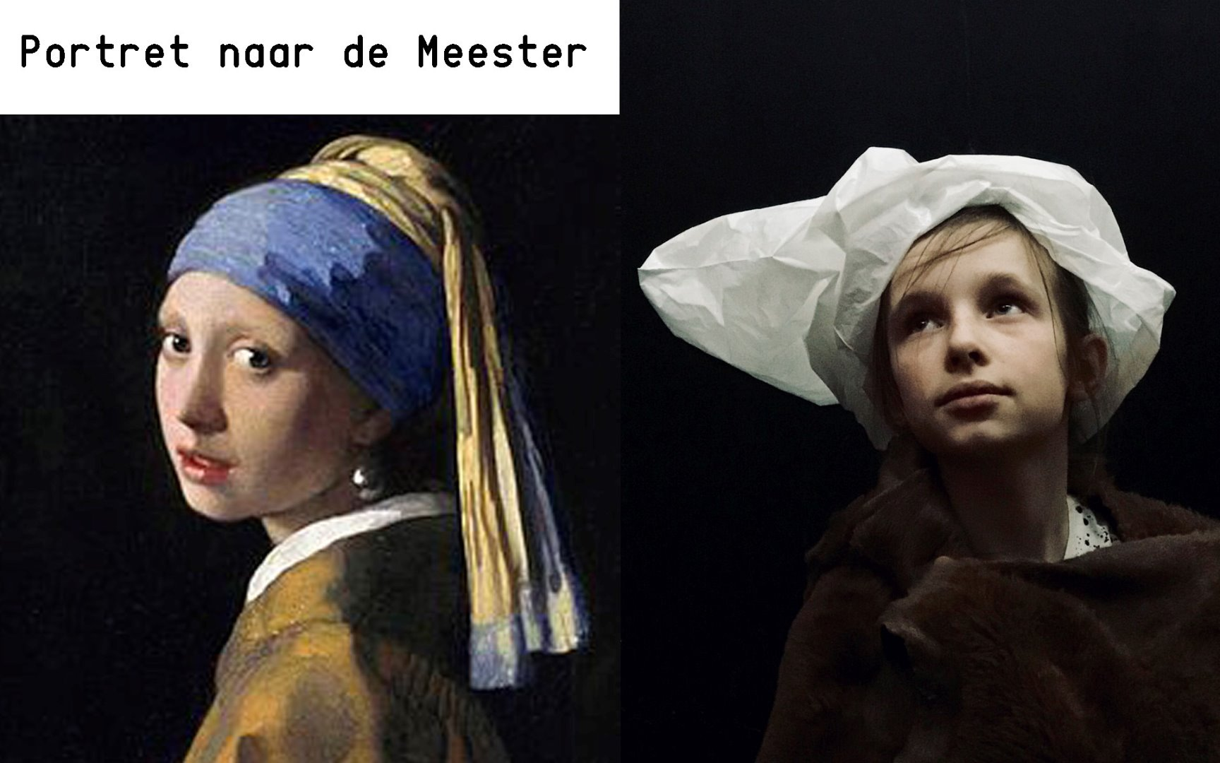 portret naar de meester
