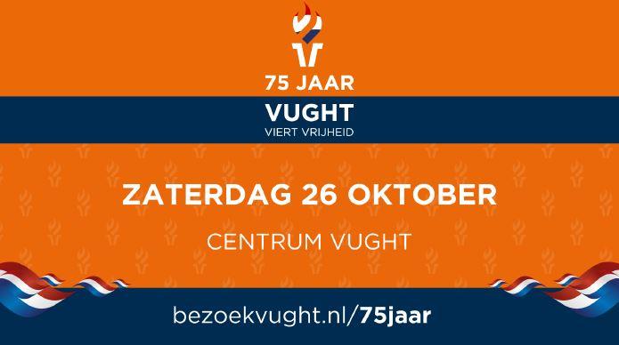 75 jr bevrijding Vught logo