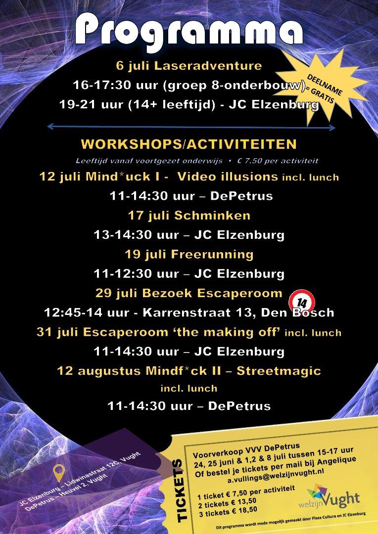 summer thrill programma