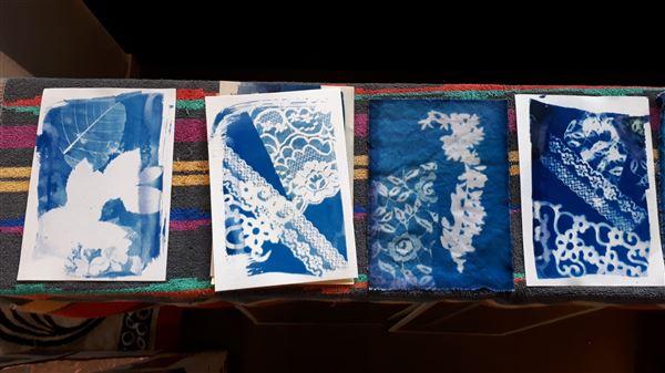 Studiedag STROOMM cyanotype Carola Mokveld